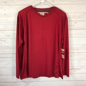 Wrangler Authentics 3XL Red Crew Neck Shirt